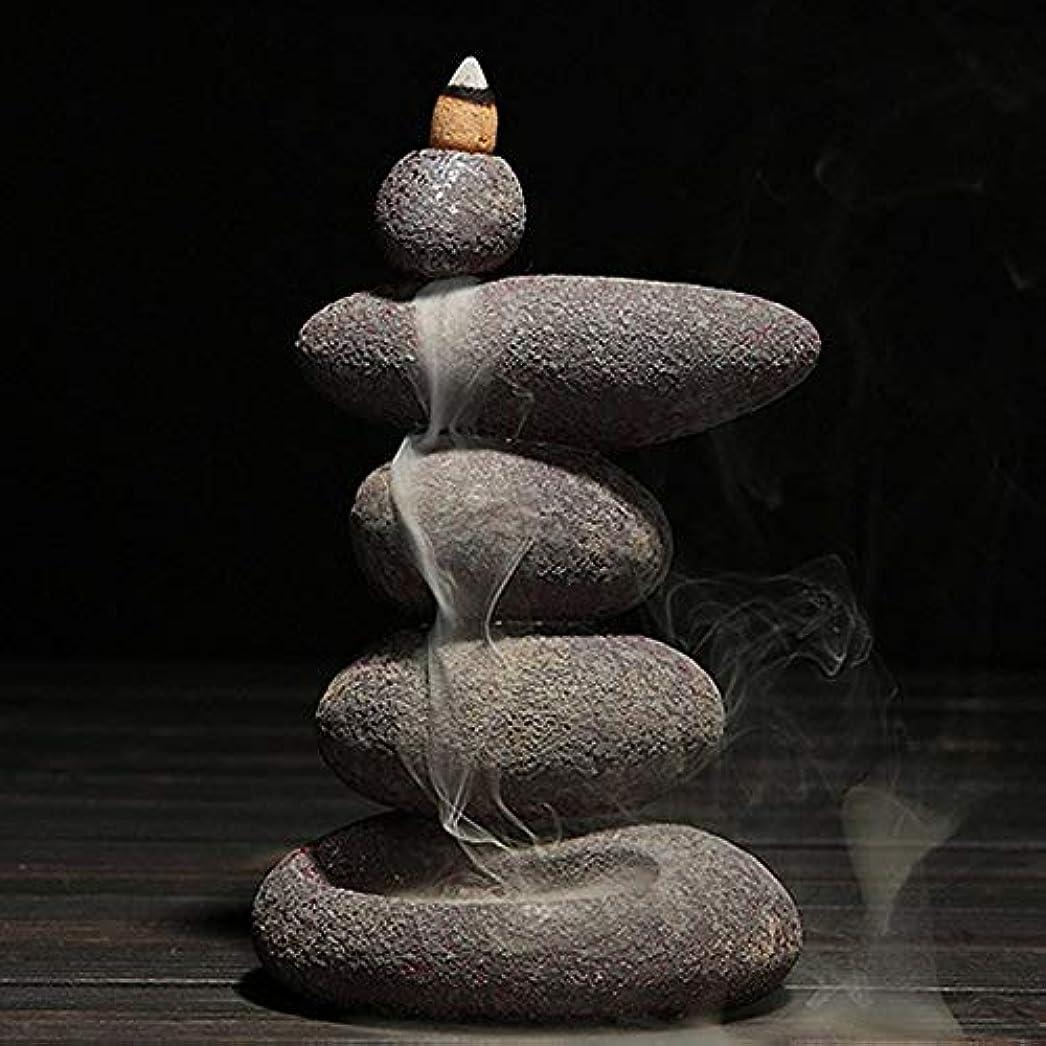 人気の汗の中でお香 20個入り セラミック 香炉 逆流香 装飾レトロ 禅 仏教 アロマ リラクゼーション