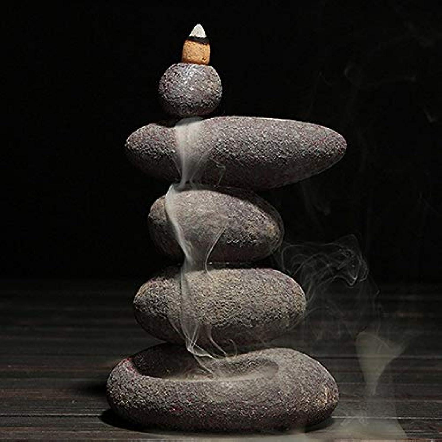 正しい虚弱硬さお香 20個入り セラミック 香炉 逆流香 装飾レトロ 禅 仏教 アロマ リラクゼーション