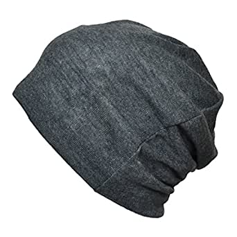 [TARO WORKS] 無地 ロールアップワッチ ニット帽 ビーニー オールシーズン Unisex (グレー)