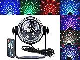【NPLUS】 ミニレーザー ステージ照明 カラフル水晶魔球 LED ディスコ ステージ パーティー カラオケ ミラーボール 音声起動 リモコン制御