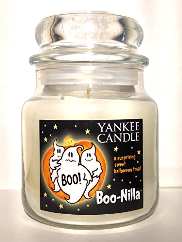 蒸留スチール城Yankee Candle boo-nilla Boonilla Vanilla Marshmallow香りHalloween Candle