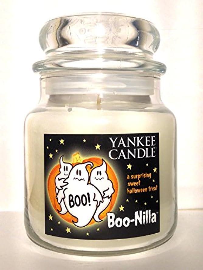 上がる活気づけるナインへYankee Candle boo-nilla Boonilla Vanilla Marshmallow香りHalloween Candle