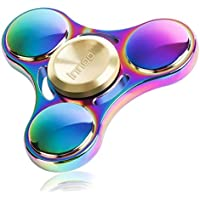 Innoo Tech ハンドスピナー 3枚羽 レインボー 虹色 3~5分回し ストレス解消 成人と子供に適用 品質保証