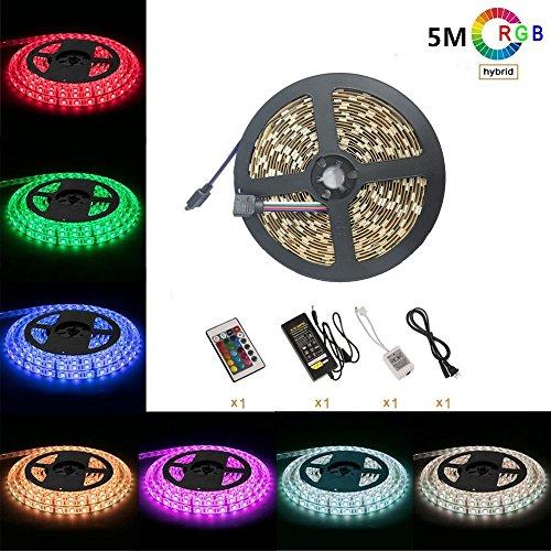 Signcomplex 12V 36W 超高輝度 RGB LEDテープライト 5M/300連 LED ストリップライト 正面発光 強力粘着両面テープ LEDチップ LEDライト 広く 展示会、 舞台、テレビ 非防水
