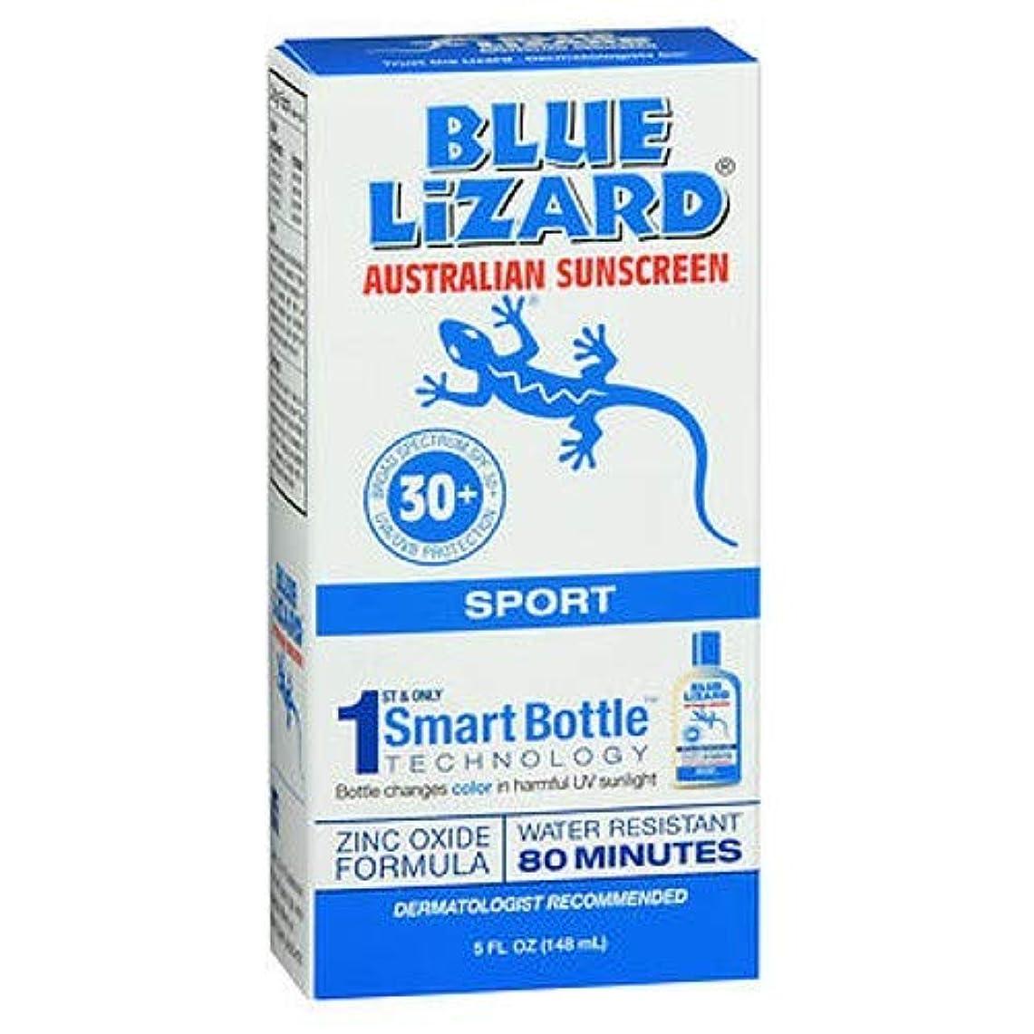 コーラス増幅する原油Blue Lizard Australian Sunscreen ブルーリザードSPF#30 +スポーツオーストラリアの日焼け止め5オンス(145Ml)(3パック)