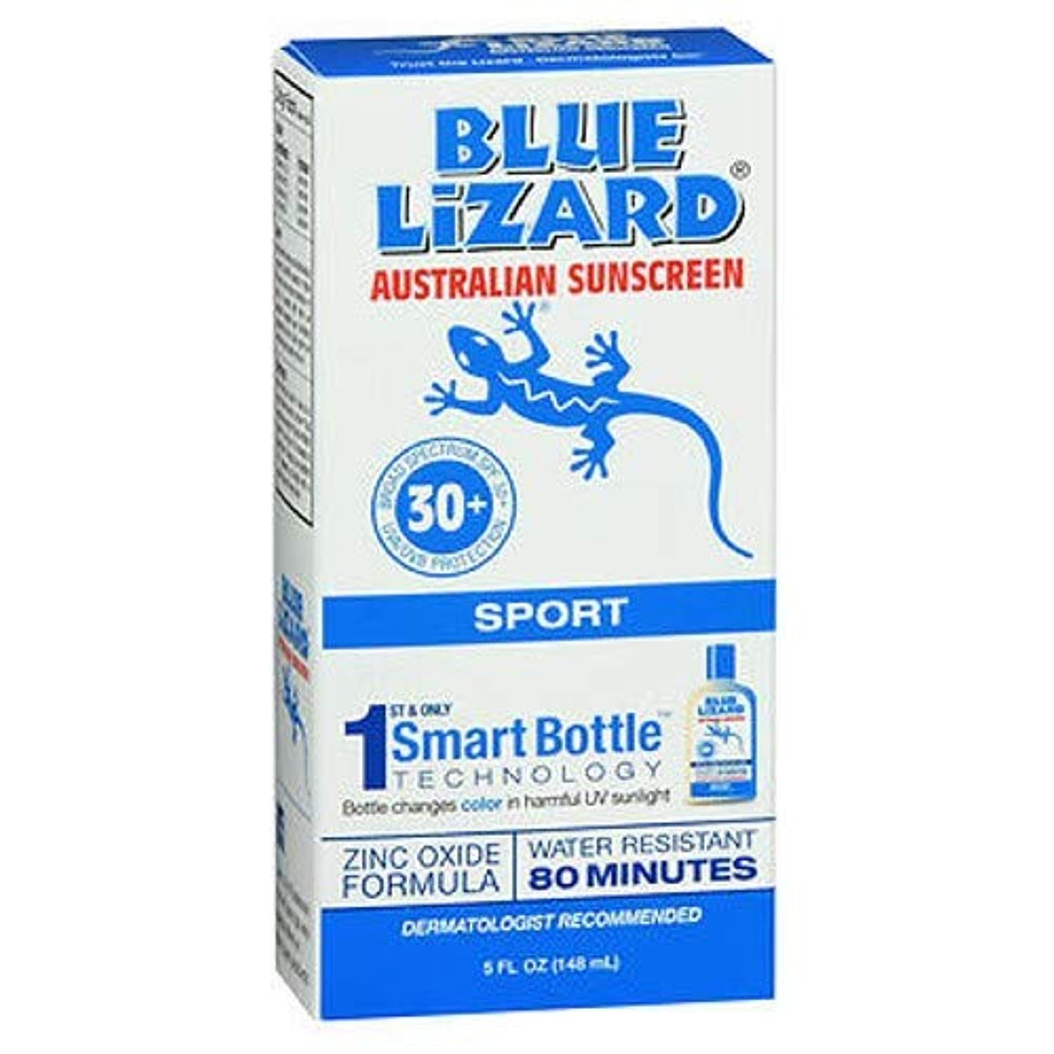 殺す蓋パブBlue Lizard Australian Sunscreen ブルーリザードSPF#30 +スポーツオーストラリアの日焼け止め5オンス(145Ml)(3パック)