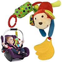 United global 音の出る お出かけ トイ ストローラー ベビーカー ドライブ 用 知育玩具 おもちゃ 出産祝い (サル)