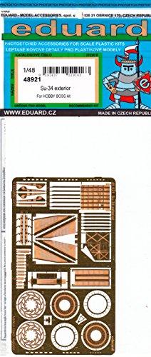 エデュアルド 1/48 スホーイSu-34 外装エッチングパーツ ホビーボス用 プラモデル用パーツ EDU48921