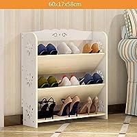シューズラック 靴のラック現代的なシンプルな多層の靴の靴の経済的な創造的なストレージ靴のラック(ホワイト) (色 : C)