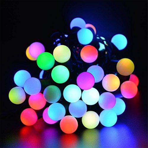 BIENNA LEDイルミネーションライト 電源プラグ式 電飾 飾り 装飾ライト LEDストリングライト 室内 室外 庭 クリスマス 学園祭 祝日 結婚式 正月 パーティ 耐熱 防水 低圧 10M/100LED バブル型 8種点灯モード(多彩)