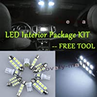 FidgetGear White SMD Car Lights Interior Package Kit For Jeep Commander 2006-2010