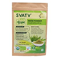 SVATV Organic Neem Powder(Azadirachta indica) 1/2 LB, 08 oz, 227g USDA Certified Organic- Biodegradable Resealable Zip Lock Pouch