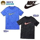(ブルー/160cm)子供服 男の子 Tシャツ 半袖 NIKE ナイキ DRI-FIT ドライフィット 速乾 ワープスピードスウッシュ プリント 男児 ジュニア