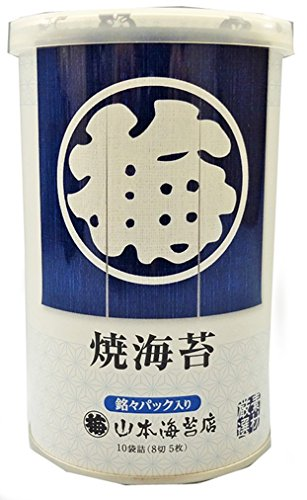 山本海苔店 卓上銘々焼海苔缶入り 10袋詰(8切5枚)
