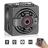 BoRui 超小型カメラ SQ8 ビデオカメラ 防犯カメラ スポーツDVカメラ 高解像度1280*720p&1920*1080p 赤外線ライト 暗視撮影機能搭載 動作検知付き アウトドア ビジネス スポーツシーンに各場所用