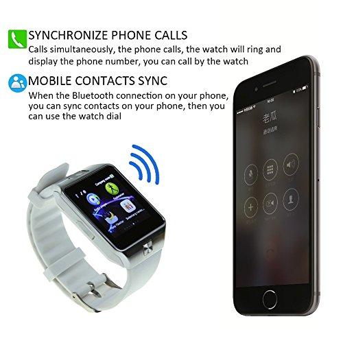 Eagle Eye Bluetooth4.1 スマートウォッチ 超薄型フルタッチ ウォッチ 多機能 時計 Iphone/Android/IOS 対応 (白) Eagle Eye