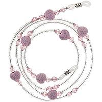 HOMYL Beautiful Beaded Eyeglasses Sun Glasses Cord Holder Necklace Sunglass Neck Strap Chain - Pink, 75cm