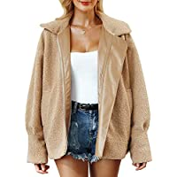 BerryGo Women's Faux Fur Lapel Coat Warm Oversized Outwear Jacket with Long Sleeve