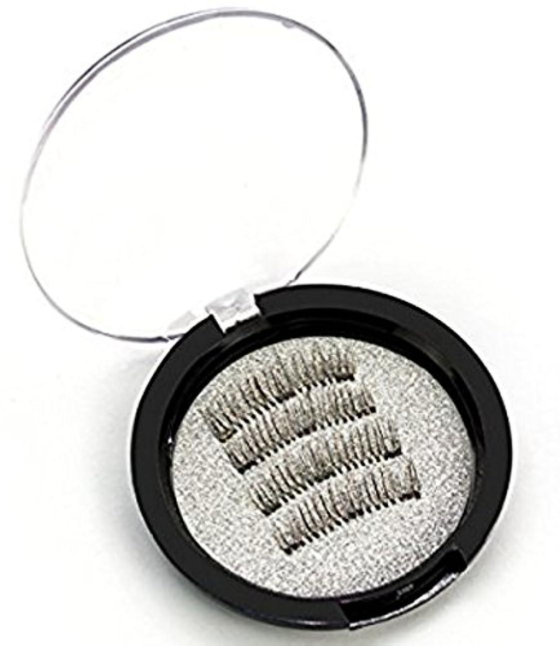 隠裂け目目の前の磁気つけまつげ 4枚入り 3D マグネット のり不要 装着簡単2ペアセット