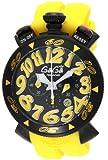 [ガガミラノ]GaGa MILANO 腕時計 クロノ48mm ブラック文字盤 ステンレス(BKPVD)ケース ラバーベルト 100M防水 クロノグラフ デイト 6054.4-RUBBER YEL メンズ 【並行輸入品】