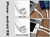 【これ一本でOK】 〈WKM&S cable〉 2in1 両用ケーブル ライトニングケーブル マイクロUSBケーブル マルチ 高耐久 急速充電 1本で2役 iPhone/android 両方充電可能 充電ケーブル (長・短セット)