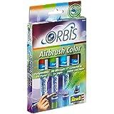 Revell - 30101 - Loisir Créatif - Orbis Set de Recharge - 4 Cartouches Aérographe I - Orange / Vert / Bleu - Clair / Marron - Foncé