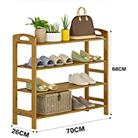 シューズラック 4段木製収納オーガナイザー靴スタンドラック シェルフ (サイズ さいず : 70CM)