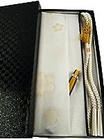 縫取 留袖用 帯揚げ・帯締め・扇子・金の亀 4点セット