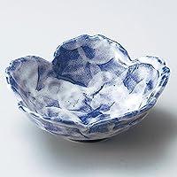 青たたきさくら型平鉢 [ φ14.5 x 5.5cm ] 【 中鉢 】 【 料亭 旅館 和食器 飲食店 業務用 】
