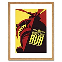 Theatre Marionette Puppet Robot Rossum USA Advert Framed Wall Art Print アメリカ合衆国