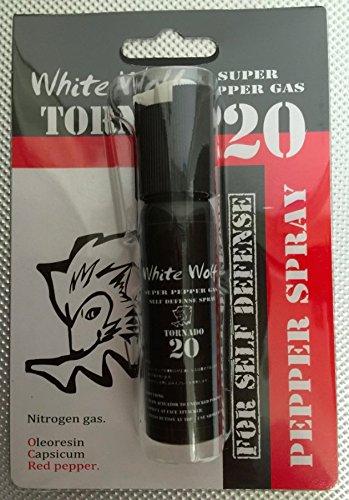 防犯催涙スプレー WHITE WOLF TORNADO20