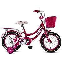 3-10歳女の子のための子供の自転車、子供自転車フロントバスケット&トレーニングホイール (Color : 5, Size : 16in)