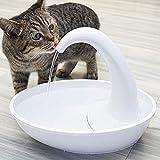 Qiyun Pet Supplies, White Swan Shape Automatic Water Cycling USB Charging Drinking Fountain for Pet Swan Filter 3pcs