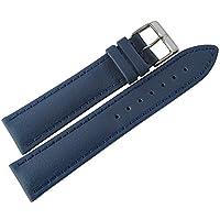 Eulit Lorica 腕時計ベルト 18mm ブルービーガンレザー 防水
