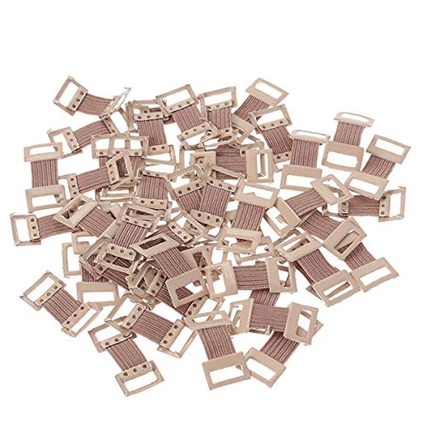 Healifty 弾性包帯クリップ様々な種類の包帯50本を伸縮金属のクラスプ