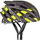 rh (アールエイチプラス) ヘルメット ヘルメット ゼット ワイ ZY シャイニーブラック/カーボンルック/ブリッジシャイニーイエローフルオ L/XL(58-62) 290g JCF公認 EHX6055 59