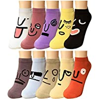 Bycc Bynn Women Novelty Colorful Ankle Socks 10 Pairs Cute Funny Casual Cotton Rich Crew Socks Pack