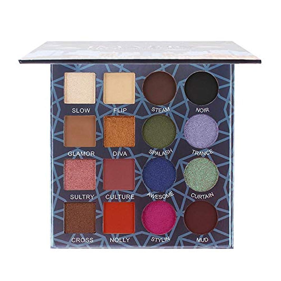 メンタルトリム煩わしい16色キラキラ輝くアイシャドープレートパウダーマットアイシャドー化粧品メイクアップ