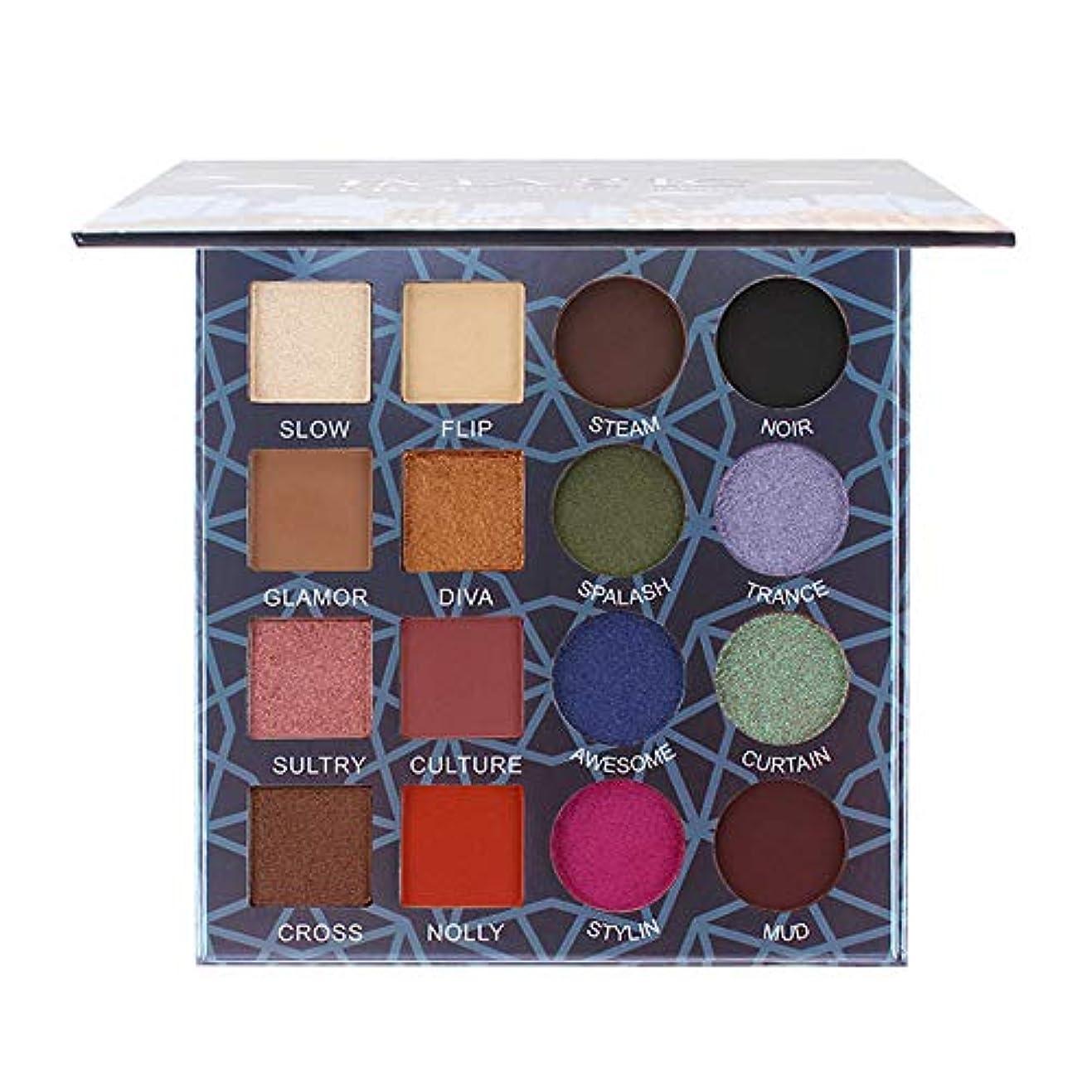 影響力のあるテセウスブルーム16色キラキラ輝くアイシャドープレートパウダーマットアイシャドー化粧品メイクアップ