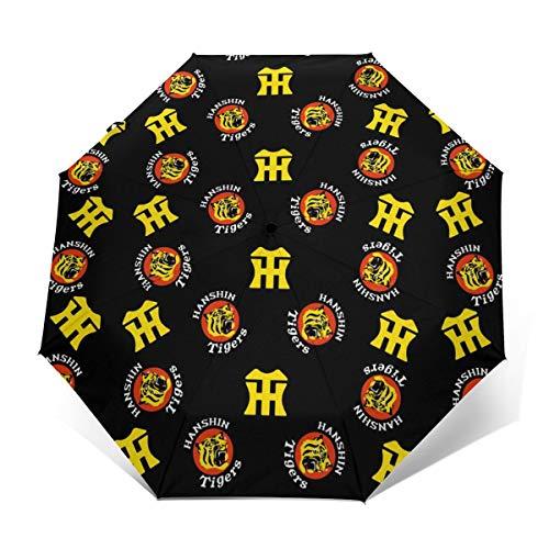 阪神タイガース 折りたたみ傘 ワンタッチ 三つ折りの傘 自動開閉 堅固な傘の骨8本 傘カバー付き 梅雨対策 晴雨兼用 防風 防水 高校生 通勤 通学 男女兼用