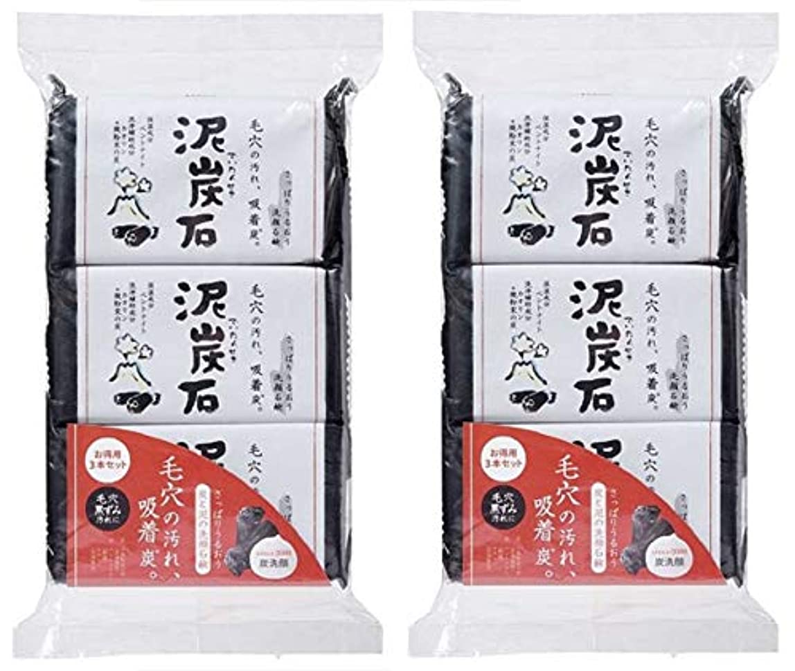 パーツ起業家コスト(まとめ買い)ペリカン石鹸 泥炭石 110g×3個 ×2セット