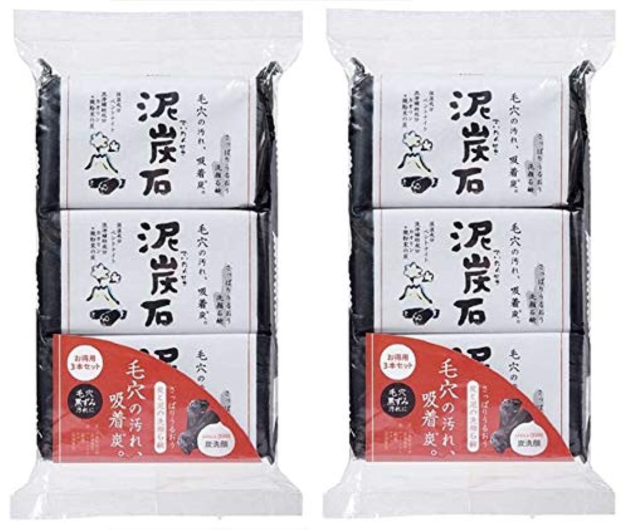 保険割り込み豚肉(まとめ買い)ペリカン石鹸 泥炭石 110g×3個 ×2セット