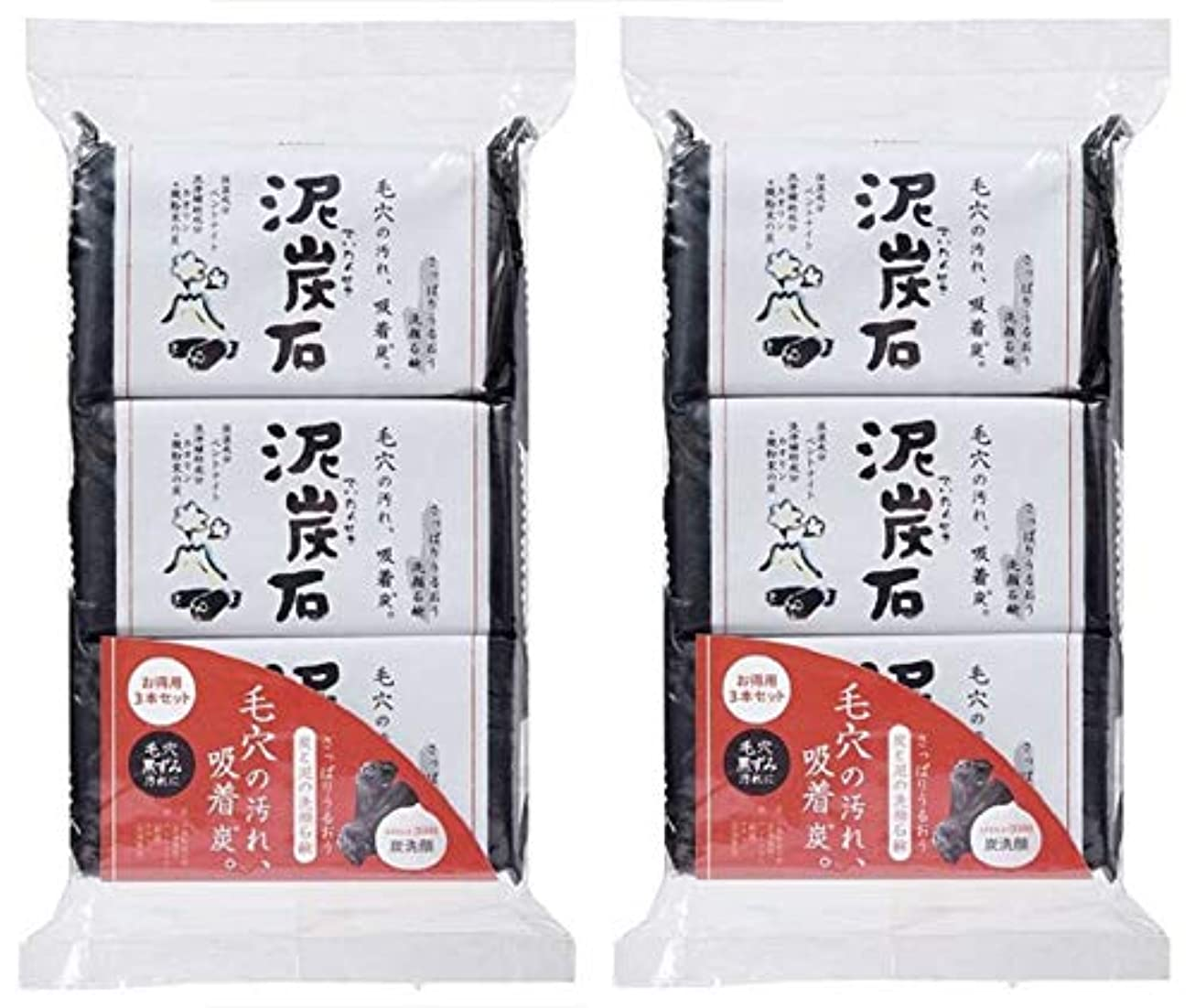 日記見捨てられた愛撫(まとめ買い)ペリカン石鹸 泥炭石 110g×3個 ×2セット