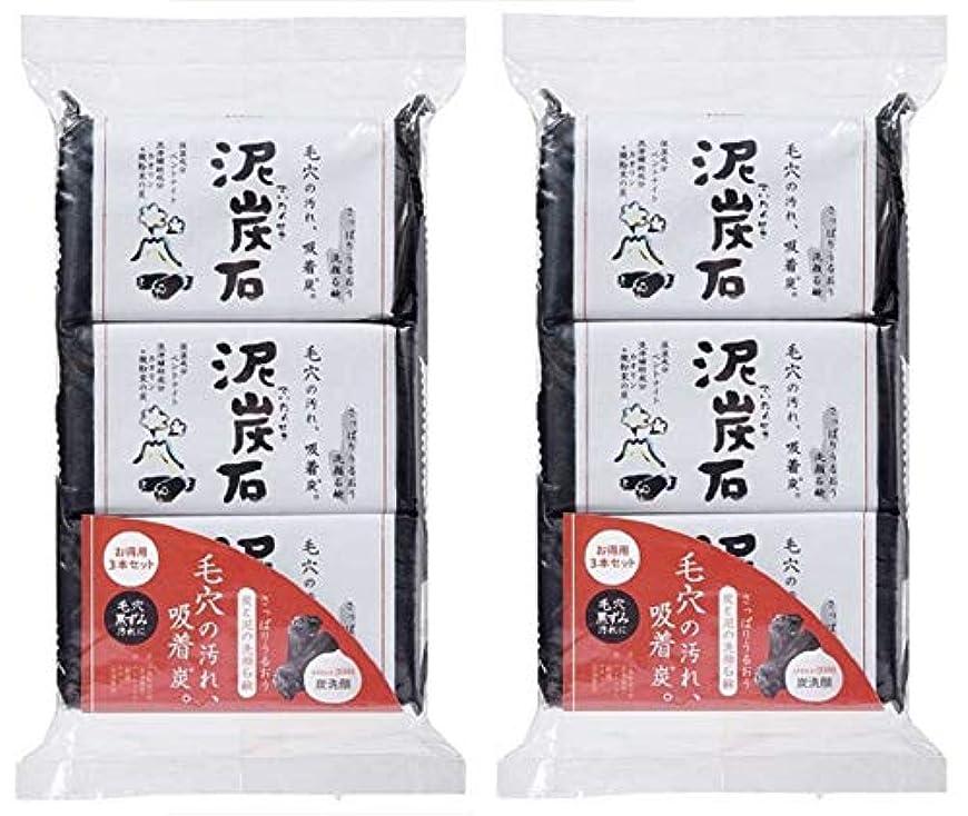 火炎どっちでも地下(まとめ買い)ペリカン石鹸 泥炭石 110g×3個 ×2セット