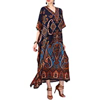 Miss Lavish London Women Kaftan Tunic Kimono Free Size Long Maxi Party Dress for Loungewear Holidays Nightwear Beach Everyday Cover Up Dresses #104