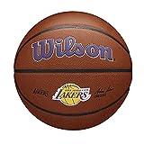 Wilson(ウイルソン) バスケットボール NBA TEAM ALLIANCE BSKT LOS ANGELES LAKERS (7号球 NBA チーム アライアンス ロサンゼルス レイカーズ) メンズ WTB3100XBLAL 7号/ 直径約24.5cm BROWN
