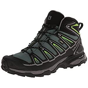 [サロモン] SALOMON トレッキングシューズ X ULTRA MID 2 GTX L37103200 BETTLE GREEN / BLACK / SPRING GREEN (BETTLE GREEN / BLACK / SPRING GREEN/26.5)