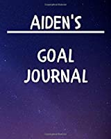 Aiden's Goal Journal: 2020 New Year Planner Goal Journal Gift for Aiden  / Notebook / Diary / Unique Greeting Card Alternative