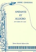 シャイユー : アンダンテとアレグロ (サクソフォン、ピアノ) ルデュック出版