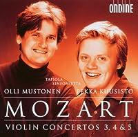 モーツァルト:ヴァイオリン協奏曲第3番 - 第5番